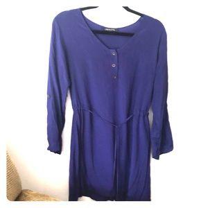 Line and Lotte royal blue silk dress
